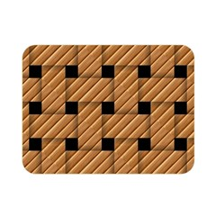 Wood Texture Weave Pattern Double Sided Flano Blanket (mini)  by Nexatart