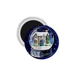 Winter Snow Ball Snow Cold Fun 1.75  Magnets by Nexatart