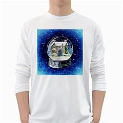 Winter Snow Ball Snow Cold Fun White Long Sleeve T-Shirts