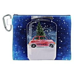 Winter Snow Ball Snow Cold Fun Canvas Cosmetic Bag (xxl)