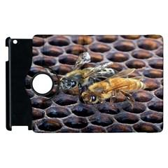 Worker Bees On Honeycomb Apple iPad 2 Flip 360 Case by Nexatart