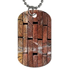 Wood Logs Wooden Background Dog Tag (two Sides)