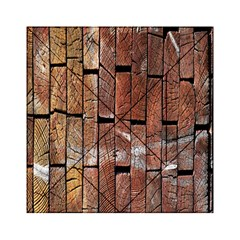 Wood Logs Wooden Background Acrylic Tangram Puzzle (6  X 6 ) by Nexatart