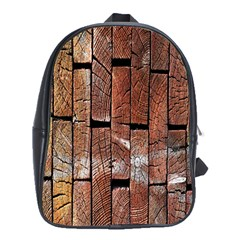 Wood Logs Wooden Background School Bags (xl)  by Nexatart