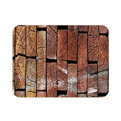 Wood Logs Wooden Background Double Sided Flano Blanket (mini)  by Nexatart