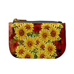 Sunflowers Flowers Abstract Mini Coin Purses