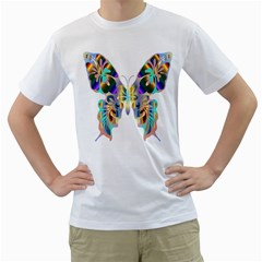 Abstract Animal Art Butterfly Men s T Shirt (white)  by Amaryn4rt