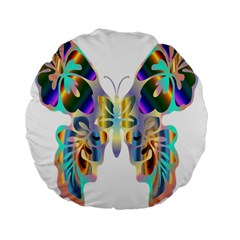 Abstract Animal Art Butterfly Standard 15  Premium Flano Round Cushions by Amaryn4rt