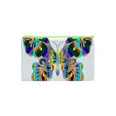 Abstract Animal Art Butterfly Cosmetic Bag (xs) by Amaryn4rt