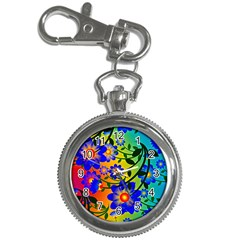 Abstract Background Backdrop Design Key Chain Watches by Amaryn4rt