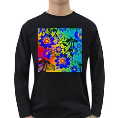 Abstract Background Backdrop Design Long Sleeve Dark T Shirts by Amaryn4rt