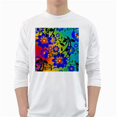 Abstract Background Backdrop Design White Long Sleeve T Shirts by Amaryn4rt