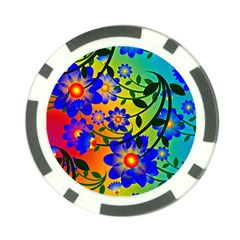 Abstract Background Backdrop Design Poker Chip Card Guard (10 Pack) by Amaryn4rt