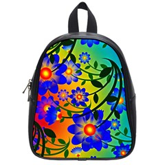 Abstract Background Backdrop Design School Bags (small)  by Amaryn4rt