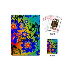 Abstract Background Backdrop Design Playing Cards (mini)  by Amaryn4rt
