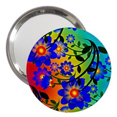 Abstract Background Backdrop Design 3  Handbag Mirrors by Amaryn4rt