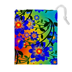 Abstract Background Backdrop Design Drawstring Pouches (extra Large) by Amaryn4rt