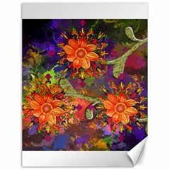 Abstract Flowers Floral Decorative Canvas 18  X 24   by Amaryn4rt