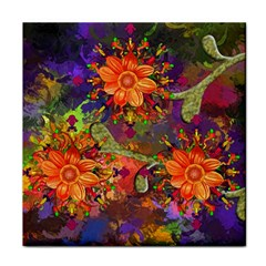 Abstract Flowers Floral Decorative Face Towel by Amaryn4rt