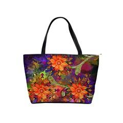 Abstract Flowers Floral Decorative Shoulder Handbags