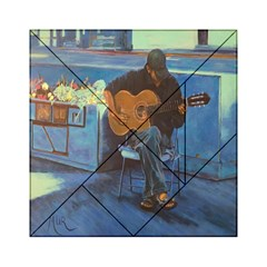 Man And His Guitar Acrylic Tangram Puzzle (6  X 6 ) by theunrulyartist