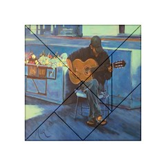Man and His Guitar Acrylic Tangram Puzzle (4  x 4 ) by theunrulyartist