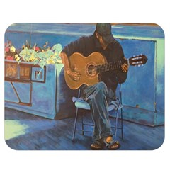 Man And His Guitar Double Sided Flano Blanket (medium)  by theunrulyartist