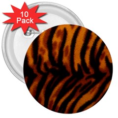 Animal Background Cat Cheetah Coat 3  Buttons (10 Pack)  by Amaryn4rt