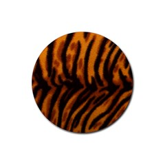 Animal Background Cat Cheetah Coat Rubber Round Coaster (4 Pack)  by Amaryn4rt