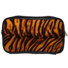Animal Background Cat Cheetah Coat Toiletries Bags 2 Side by Amaryn4rt