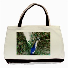 Animal Photography Peacock Bird Basic Tote Bag (two Sides) by Amaryn4rt