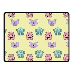 Animals Pastel Children Colorful Fleece Blanket (small) by Amaryn4rt