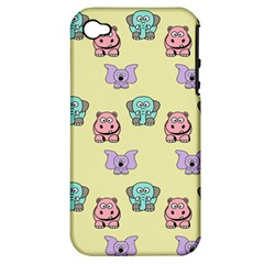 Animals Pastel Children Colorful Apple Iphone 4/4s Hardshell Case (pc+silicone) by Amaryn4rt