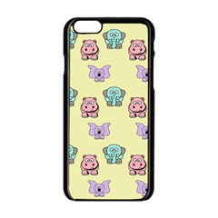 Animals Pastel Children Colorful Apple Iphone 6/6s Black Enamel Case by Amaryn4rt