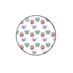 Animals Pastel Children Colorful Hat Clip Ball Marker by Amaryn4rt