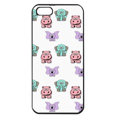 Animals Pastel Children Colorful Apple Iphone 5 Seamless Case (black) by Amaryn4rt