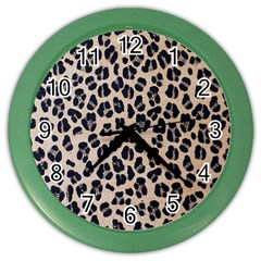 Background Pattern Leopard Color Wall Clocks