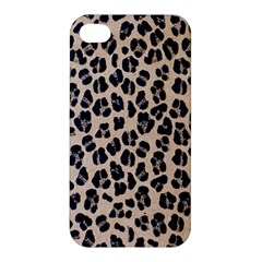 Background Pattern Leopard Apple Iphone 4/4s Hardshell Case by Amaryn4rt