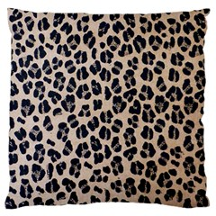 Background Pattern Leopard Large Flano Cushion Case (one Side) by Amaryn4rt