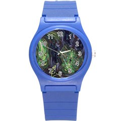 Backdrop Background Abstract Round Plastic Sport Watch (s) by Amaryn4rt