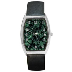 Dark Flora Photo Barrel Style Metal Watch by dflcprints