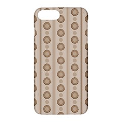 Background Rough Stripes Brown Tan Apple iPhone 7 Plus Hardshell Case by Amaryn4rt