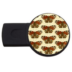 Butterfly Butterflies Insects USB Flash Drive Round (2 GB)