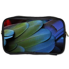 Feather Parrot Colorful Metalic Toiletries Bags 2 Side by Amaryn4rt