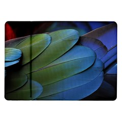 Feather Parrot Colorful Metalic Samsung Galaxy Tab 10 1  P7500 Flip Case