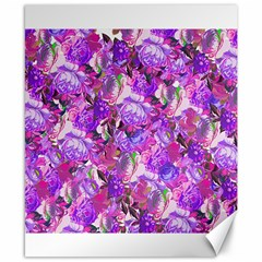 Flowers Abstract Digital Art Canvas 8  X 10  by Amaryn4rt