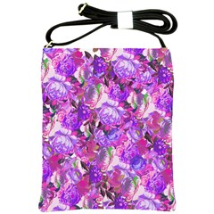 Flowers Abstract Digital Art Shoulder Sling Bags by Amaryn4rt