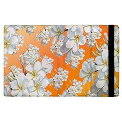 Flowers Background Backdrop Floral Apple Ipad 2 Flip Case by Amaryn4rt
