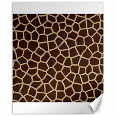 Giraffe Animal Print Skin Fur Canvas 11  X 14   by Amaryn4rt