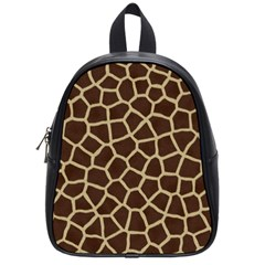 Giraffe Animal Print Skin Fur School Bags (small)  by Amaryn4rt